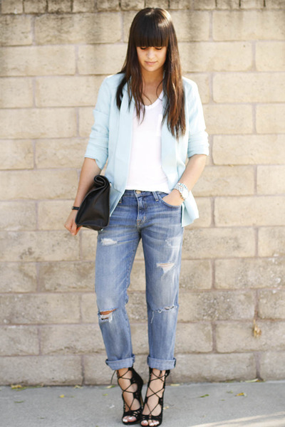 3 Ways To Wear A Light Blue Blazer